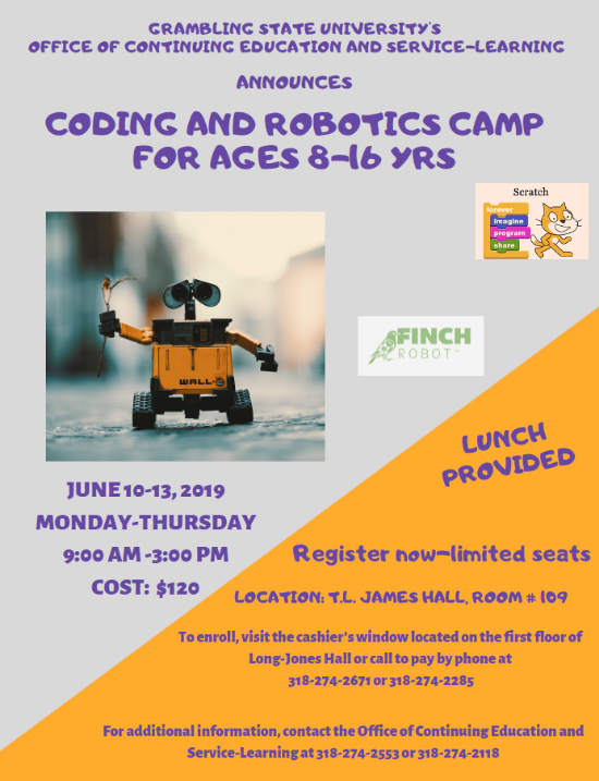Coding and Robotics Camp