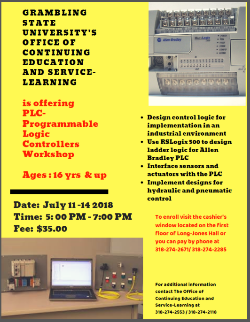 Programmable Logic Controllers Workshop (PLC)