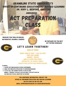ACT Preparation Class Flyer
