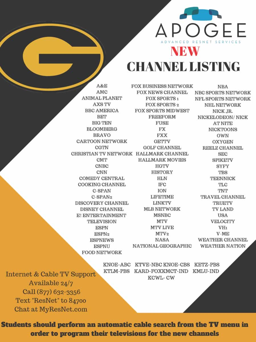 GSU Cable Chanels Flyer
